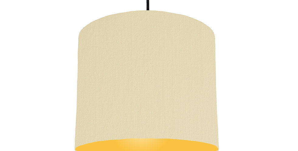Natural & Butter Yellow Lampshade - 25cm Wide