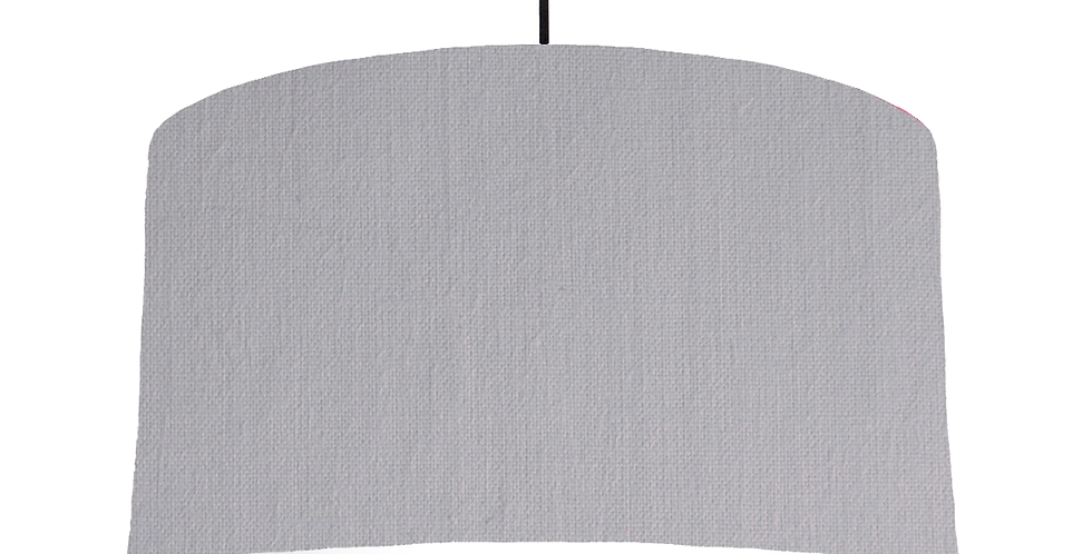 Light Grey & White Lampshade - 50cm Wide