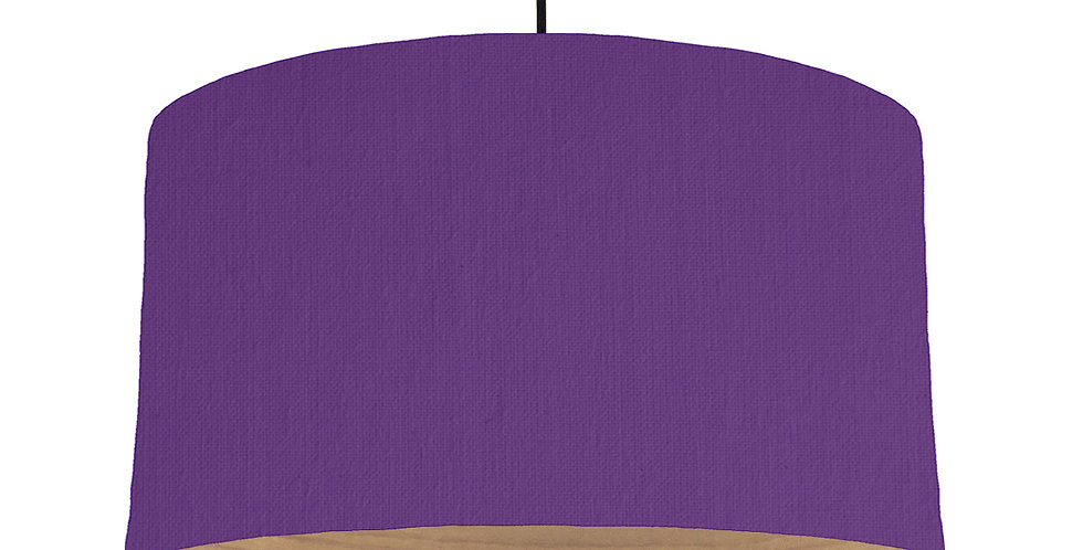 Violet & Wooden Lined Lampshade - 50cm Wide