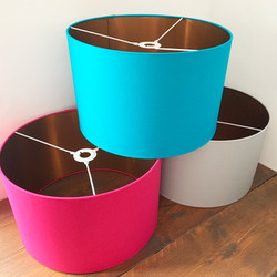 Brushed copper lampshades