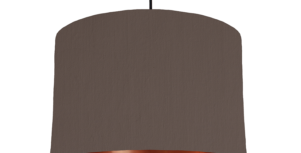 Brown & Copper Mirrored Lampshade - 30cm Wide