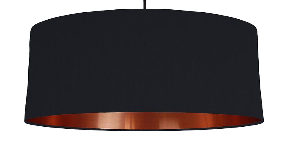 Black & Copper Mirrored Lampshade - 70cm Wide