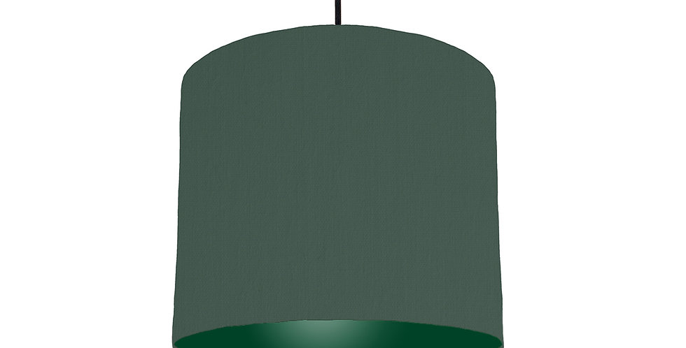 Bottle Green & Forest Green Lampshade - 25cm Wide