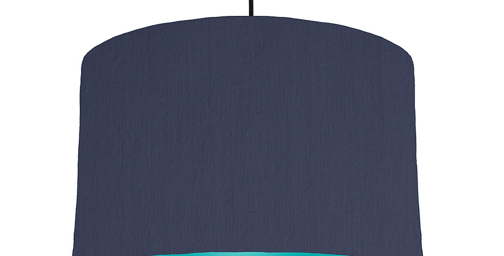 Navy Blue & Turquoise Lampshade - 40cm Wide