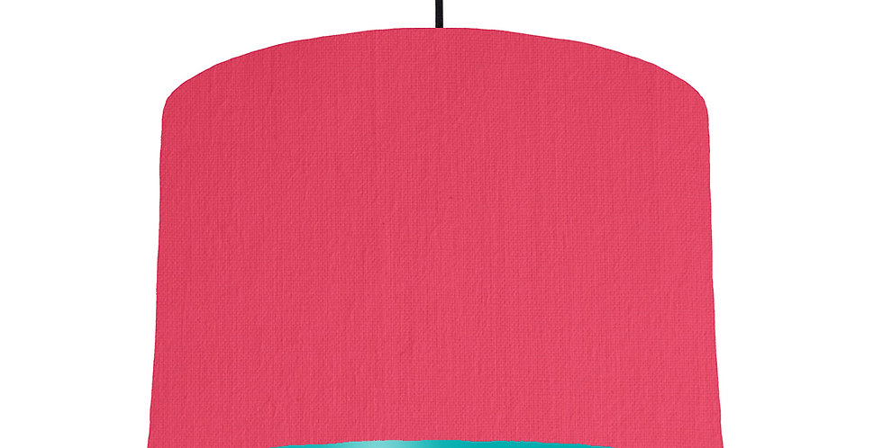 Cerise & Turquoise Lampshade - 30cm Wide