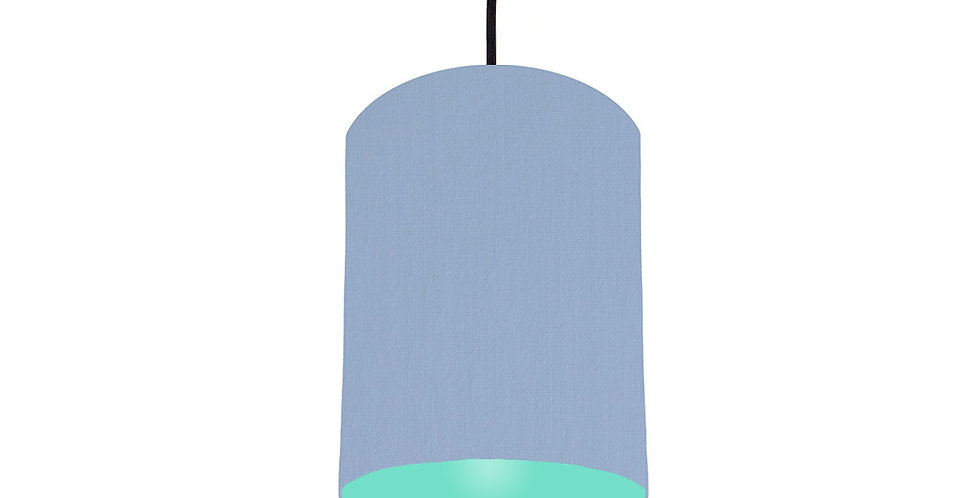 Sky Blue & Mint Lampshade - 15cm Wide