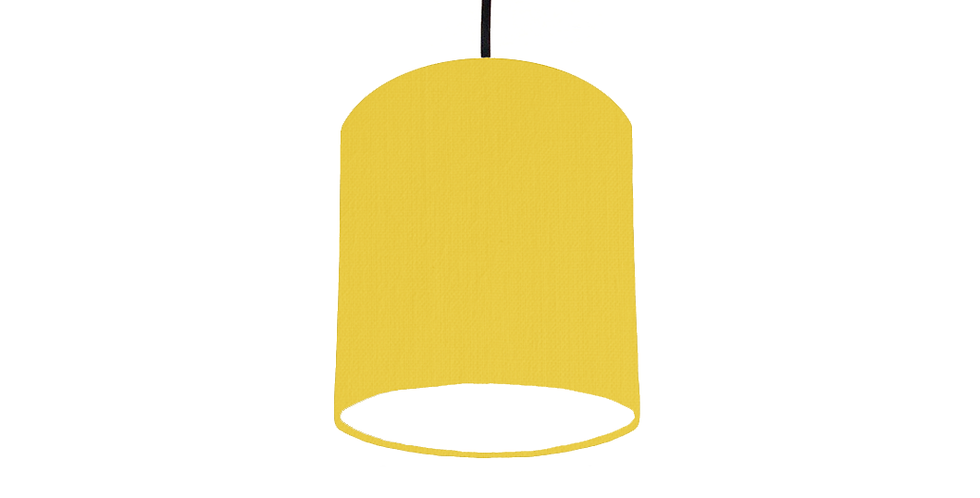 Lemon & White Lampshade - 15cm Wide