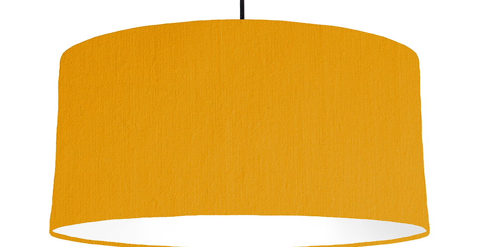 Mustard & White Lampshade - 60cm Wide