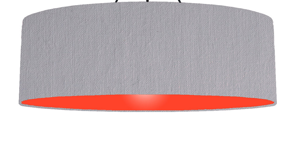 Light Grey & Poppy Red Lampshade - 100cm Wide