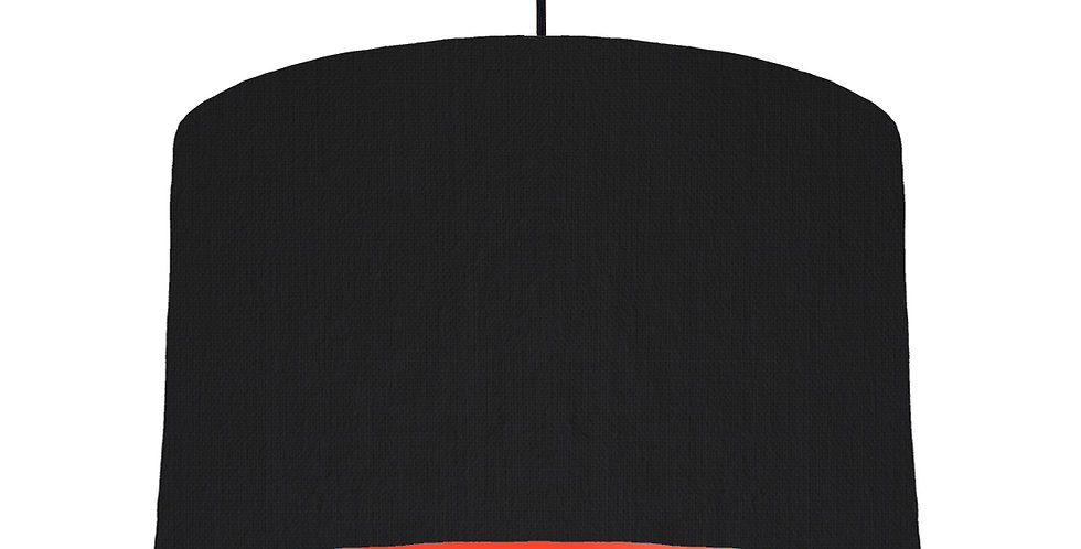 Black & Poppy Red Lampshade - 40cm Wide