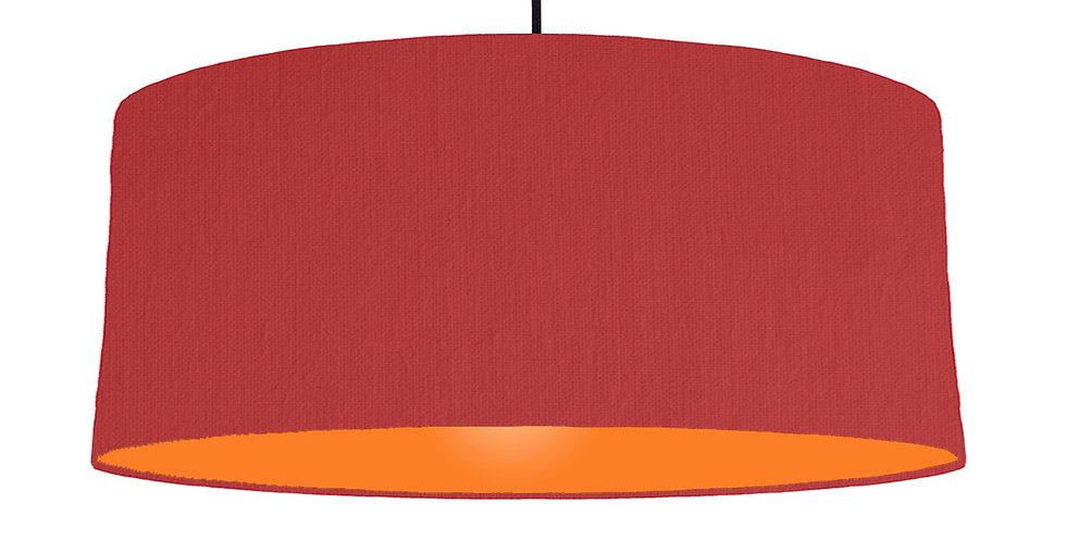 Red & Orange Lampshade - 70cm Wide