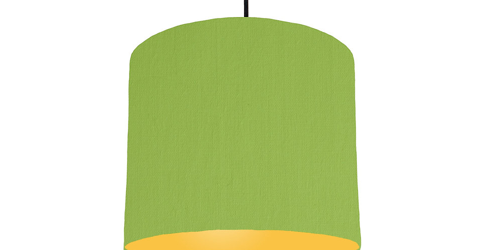 Pistachio & Butter Yellow Lampshade - 25cm Wide