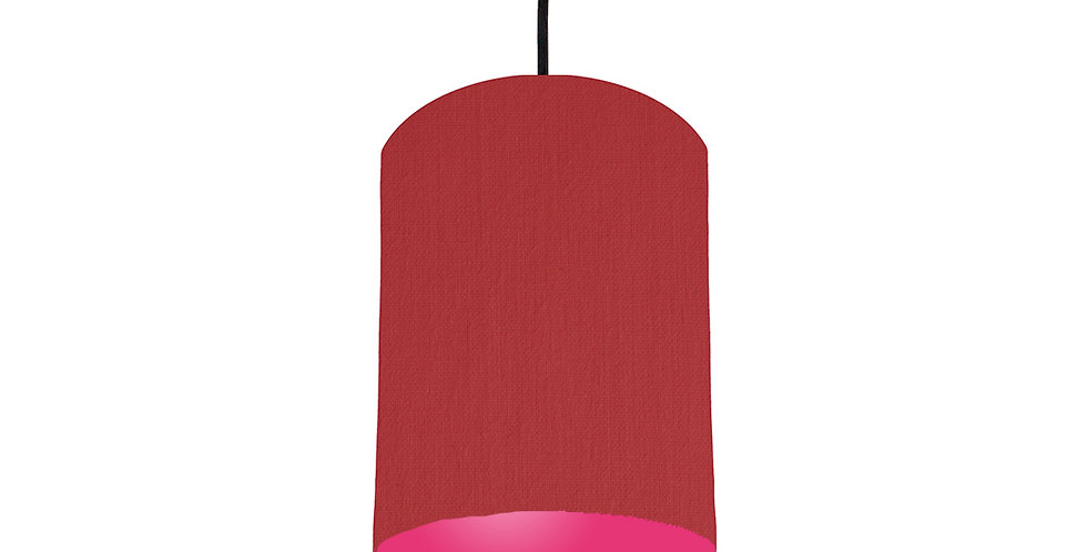 Red & Magenta Pink Lampshade - 15cm Wide