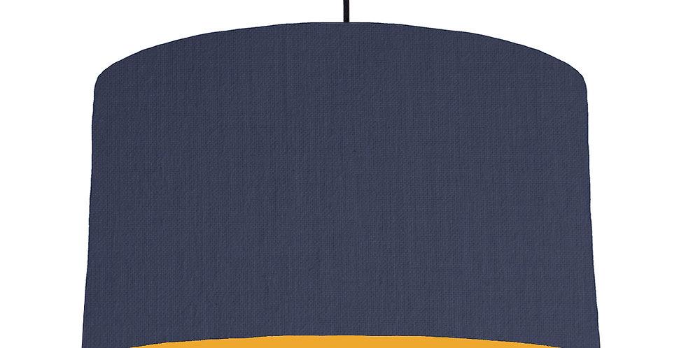 Navy Blue & Mustard Lampshade - 50cm Wide
