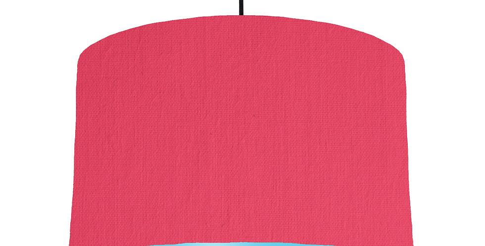 Cerise & Light Blue Lampshade - 40cm Wide