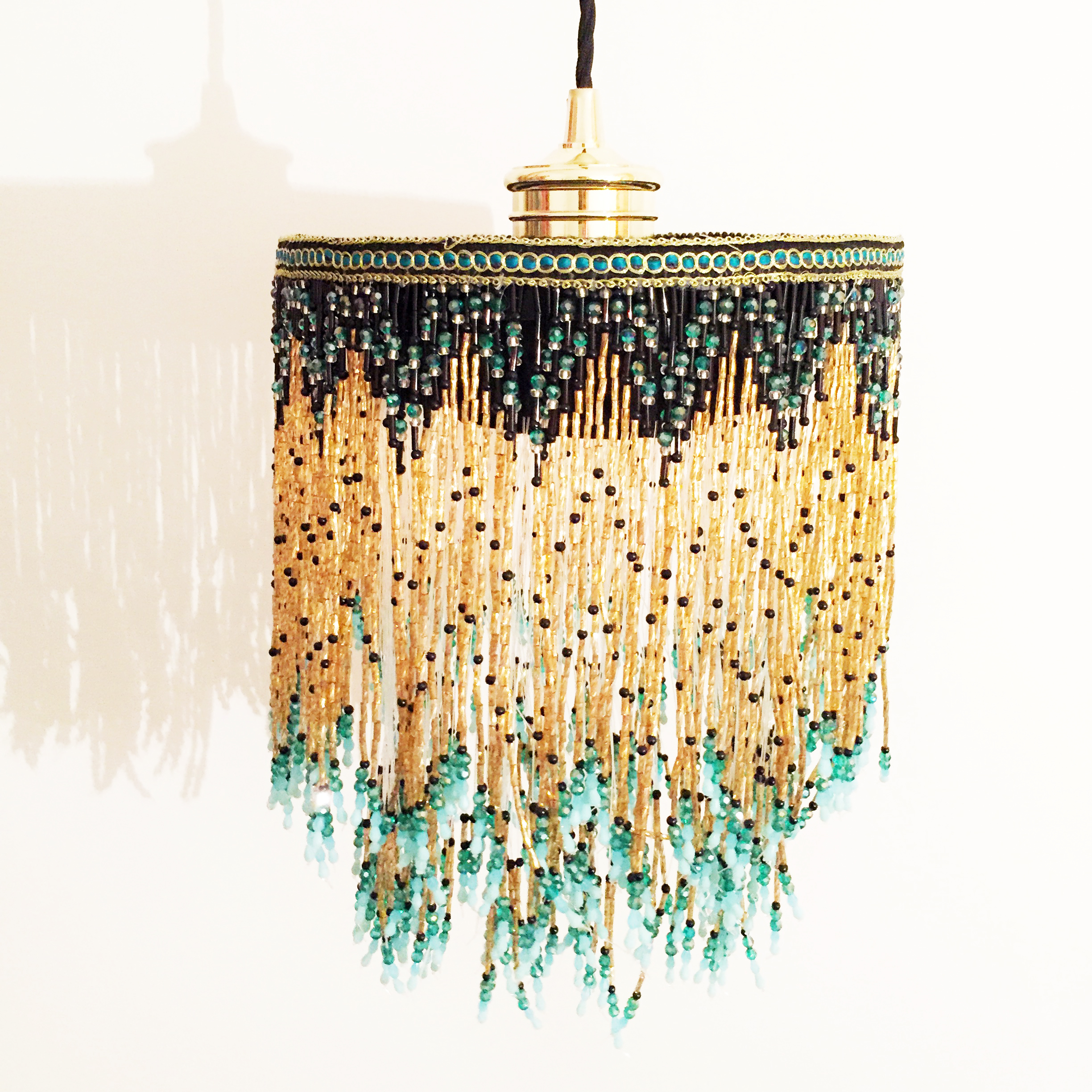 Bespoke beaded lampshade