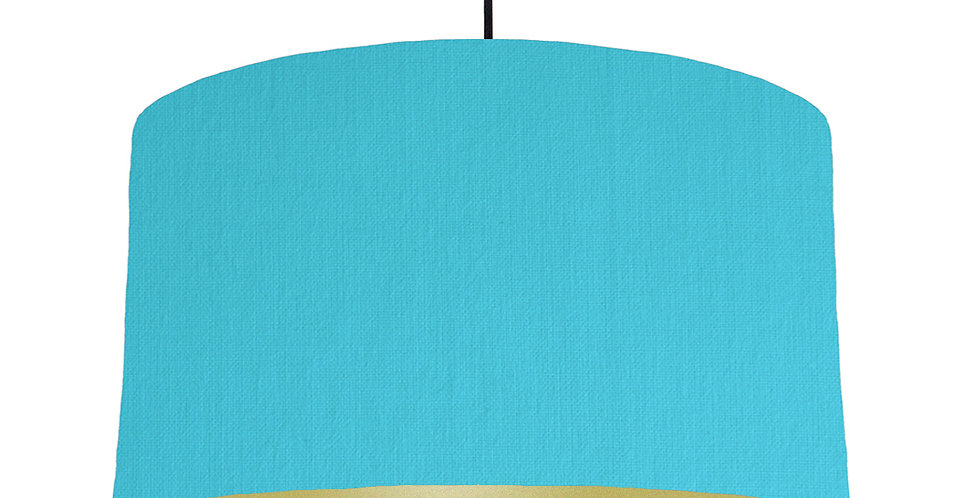 Turquoise & Gold Matt Lampshade - 50cm Wide