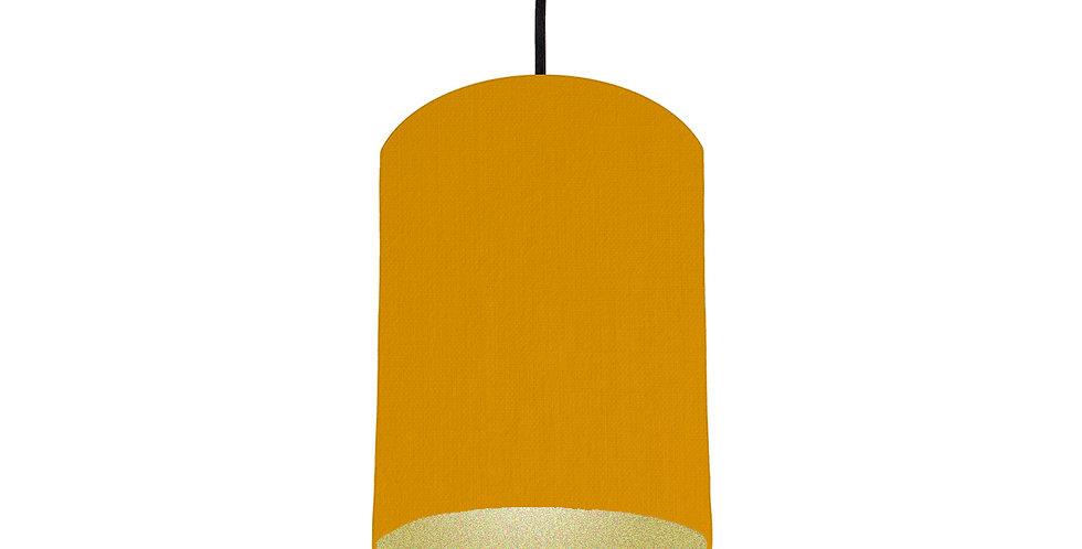 Mustard & Gold Matt Lampshade - 15cm Wide