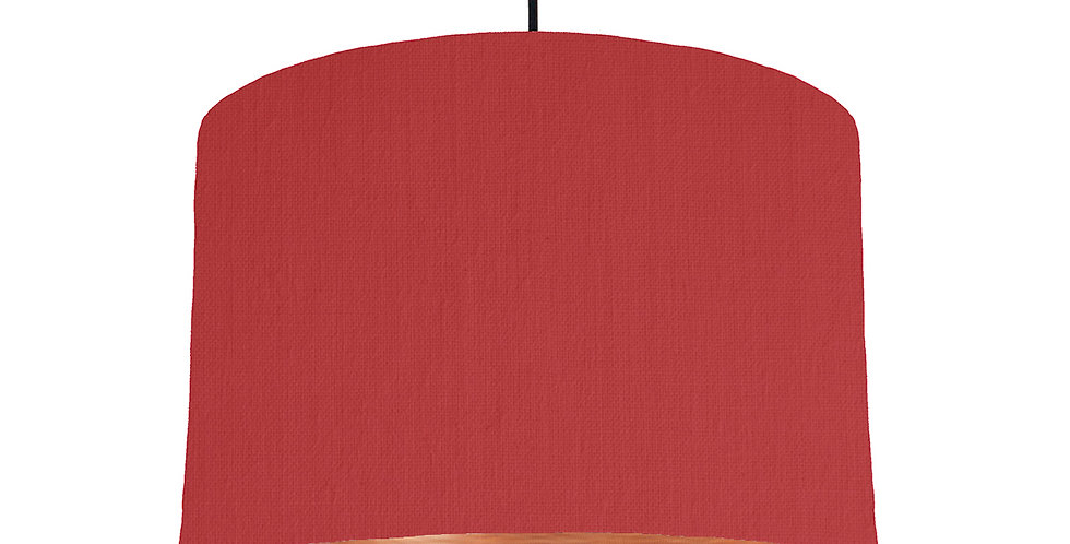 Red & Brushed Copper Lampshade - 30cm Wide