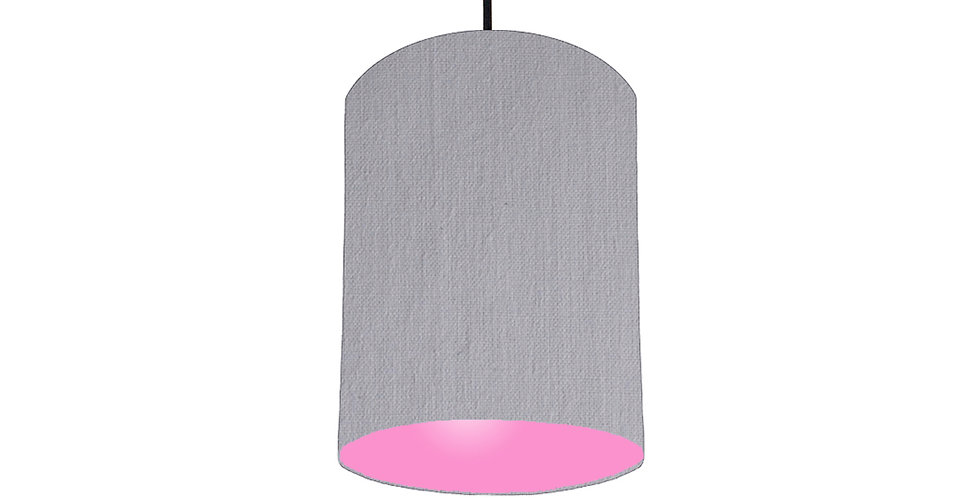 Light Grey & Pink Lampshade - 15cm Wide