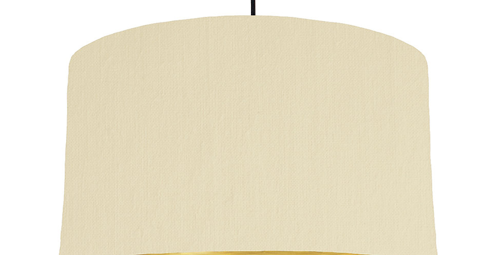 Natural & Brushed Gold Lampshade - 50cm Wide