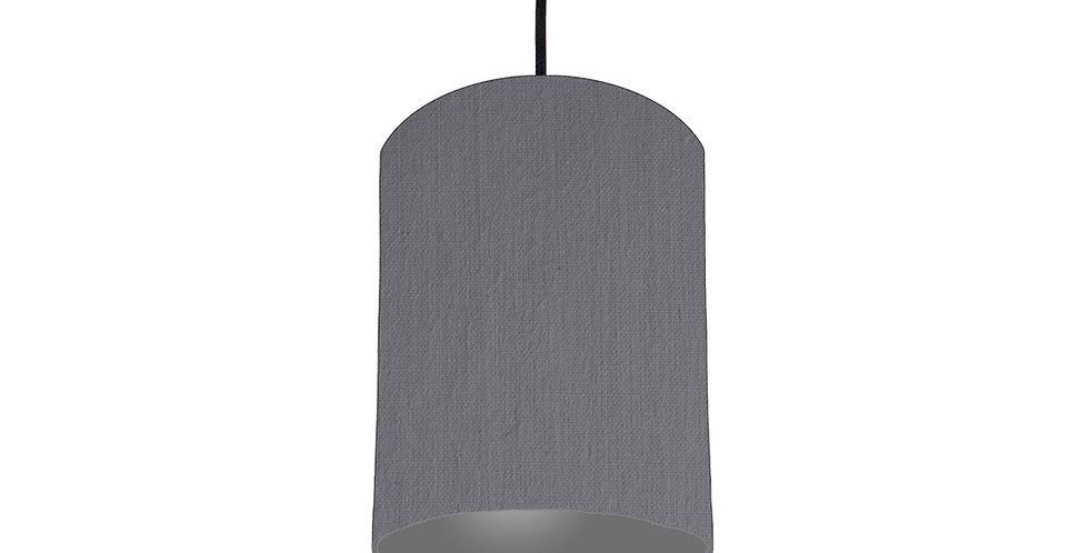 Dark Grey & Dark Grey Lampshade - 15cm Wide