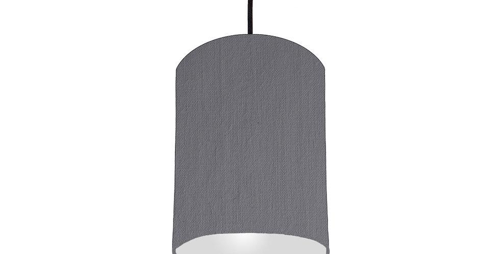 Dark Grey & Light Grey Lampshade - 15cm Wide