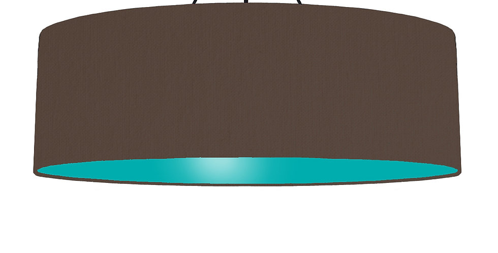 Brown & Turquoise Lampshade - 100cm Wide