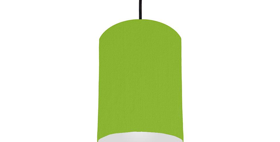 Pistachio & Light Grey Lampshade - 15cm Wide