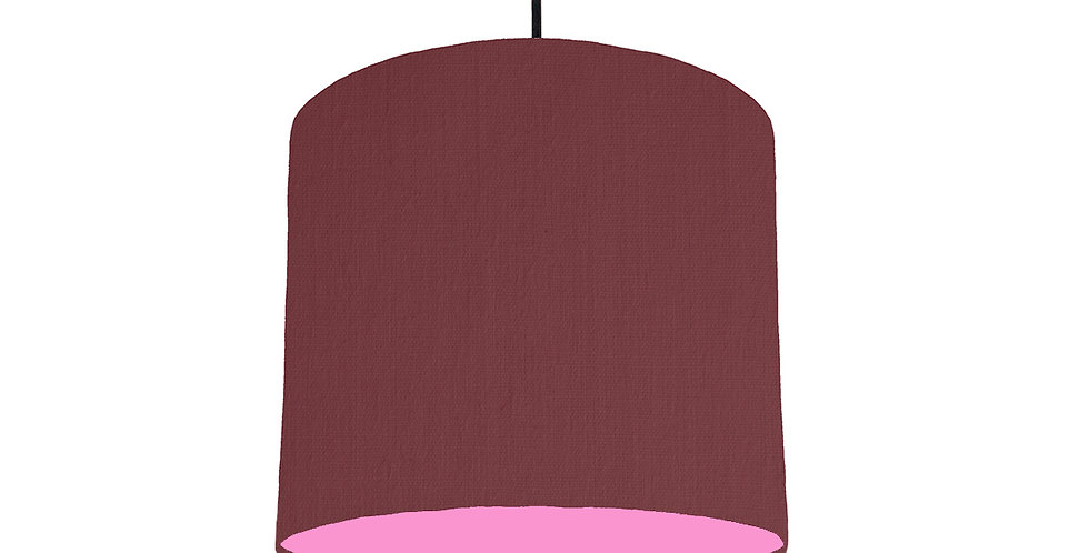 Wine Red & Pink Lampshade - 25cm Wide