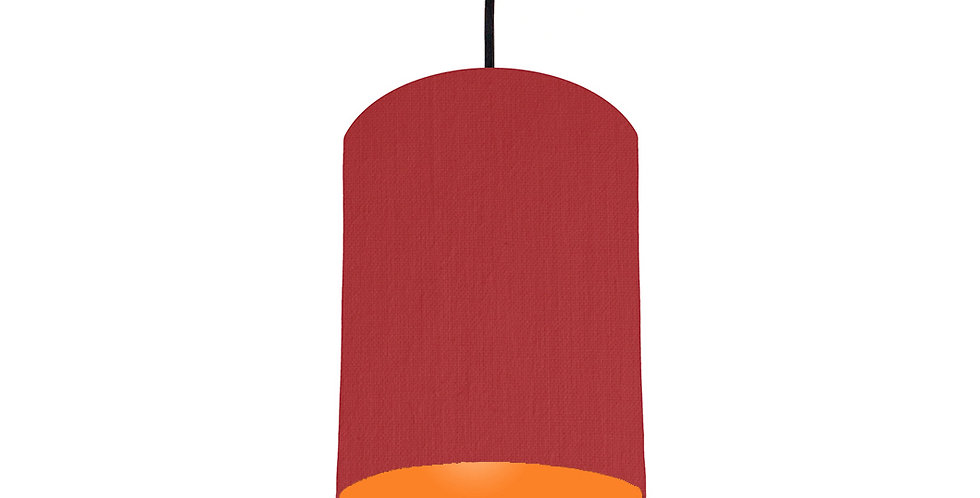 Red & Orange Lampshade - 15cm Wide