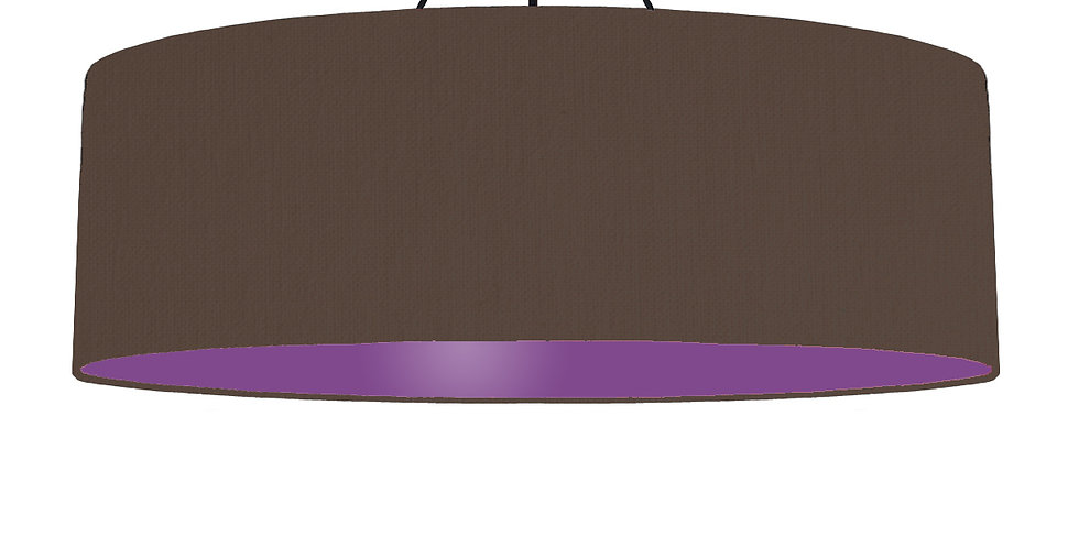 Brown & Purple Lampshade - 100cm Wide