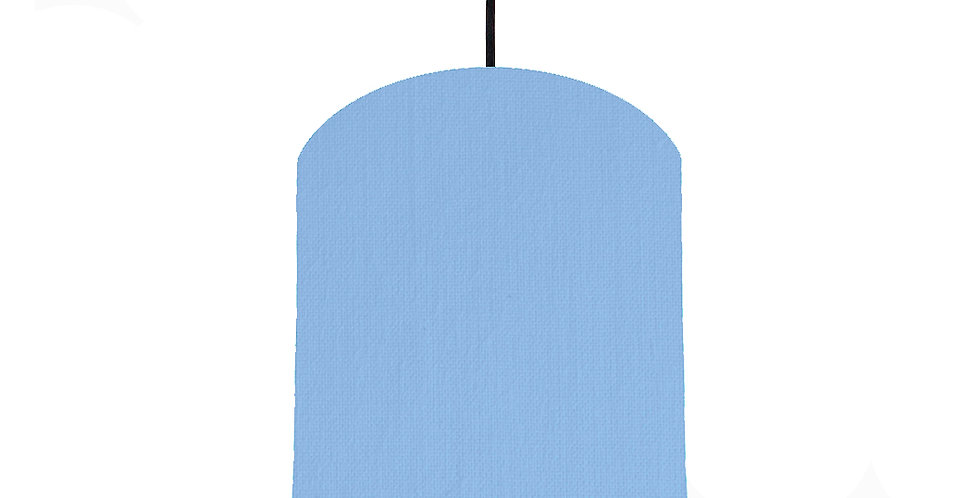 Sky Blue & Brushed Copper Lampshade - 20cm Wide