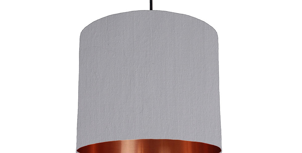 Light Grey & Copper Mirrored Lampshade - 25cm Wide
