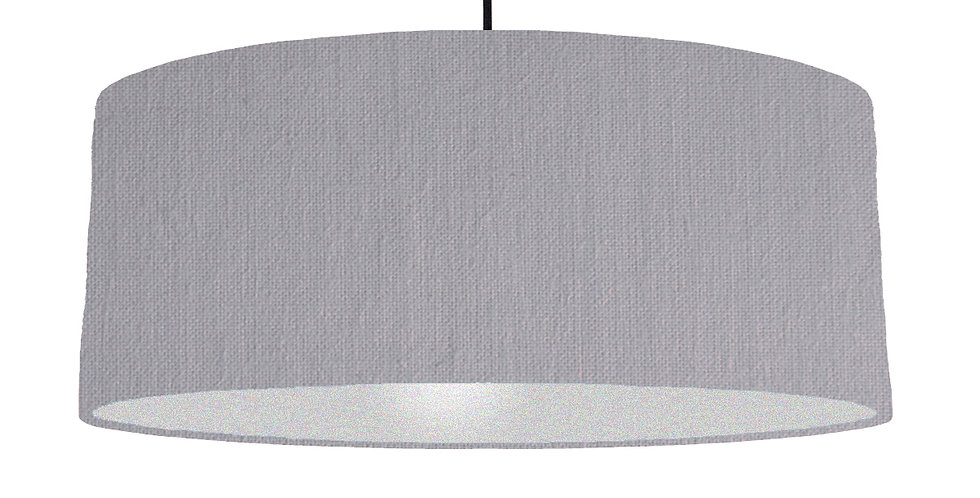 Light Grey & Silver Lampshade - 70cm Wide