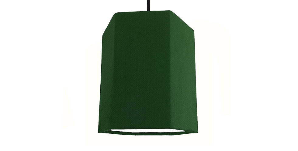Bottle Green & White Hexagon Lampshade - 15cm Wide