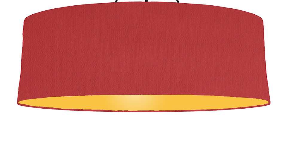 Red & Butter Yellow Lampshade - 100cm Wide