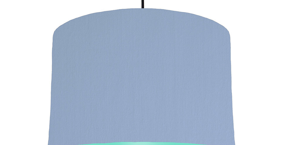 Sky Blue & Mint Lampshade - 30cm Wide