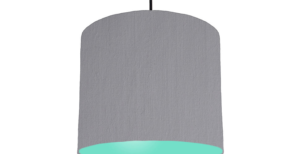 Light Grey & Mint Lampshade - 25cm Wide