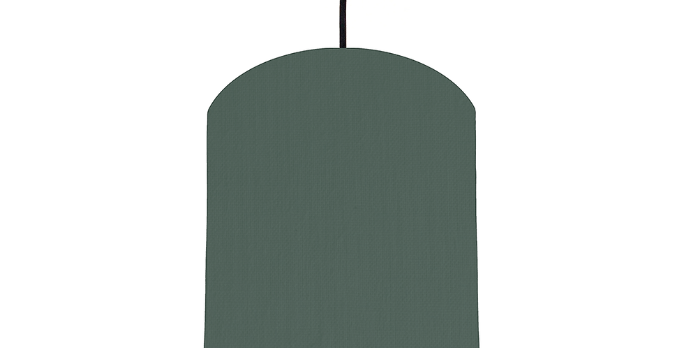 Bottle Green & Gold Mirrored Lampshade - 20cm Wide