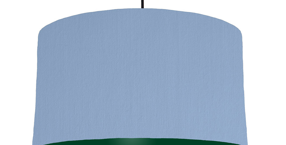 Sky Blue & Forest Green Lampshade - 50cm Wide