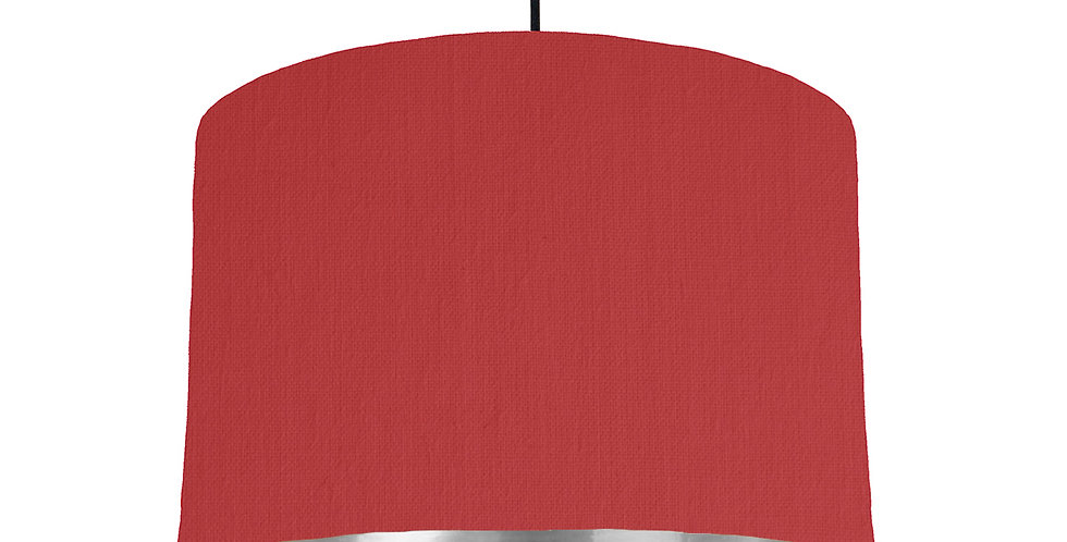 Red & Silver Mirrored Lampshade - 30cm Wide