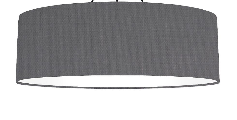 Dark Grey & White Lampshade - 100cm Wide