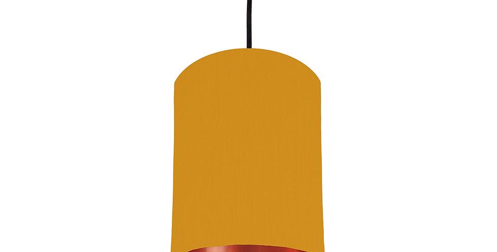 Mustard & Copper Mirrored Lampshade - 15cm Wide