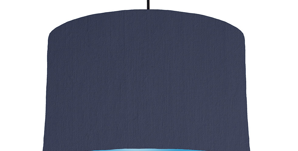 Navy Blue & Light Blue Lampshade - 40cm Wide