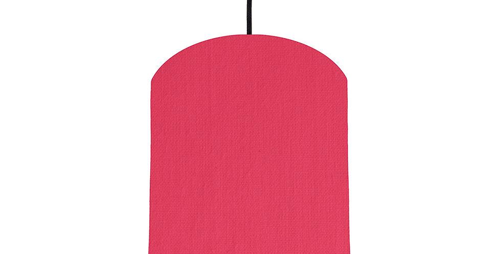 Cerise & Black Lampshade - 20cm Wide