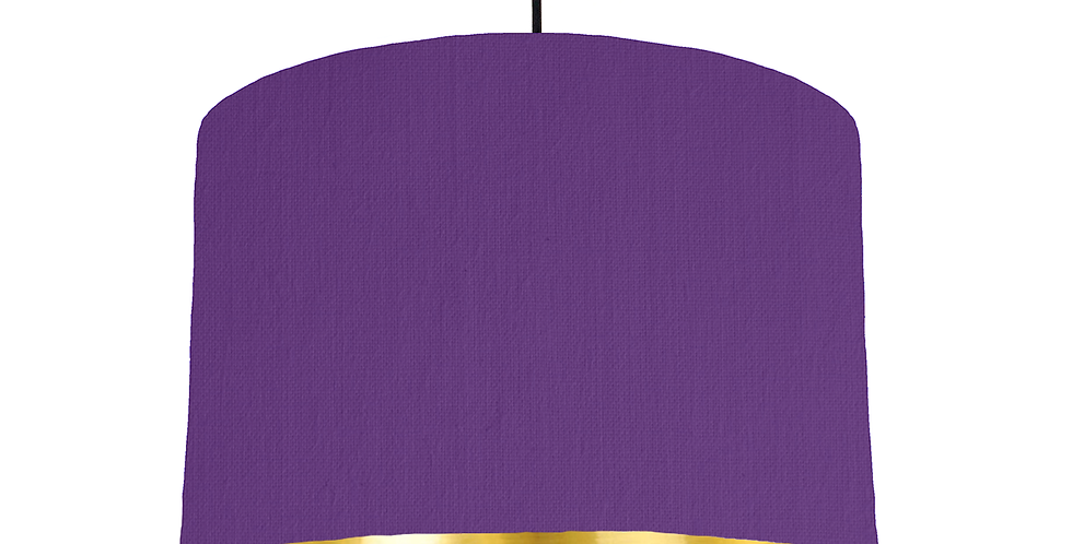 Violet & Gold Mirrored Lampshade - 30cm Wide