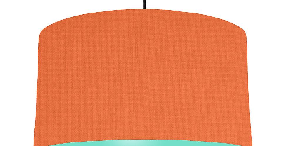 Orange & Mint Lampshade - 50cm Wide