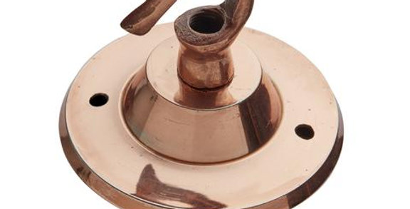 Industville Edison Hook Ceiling Rose - 1 Outlet - Copper