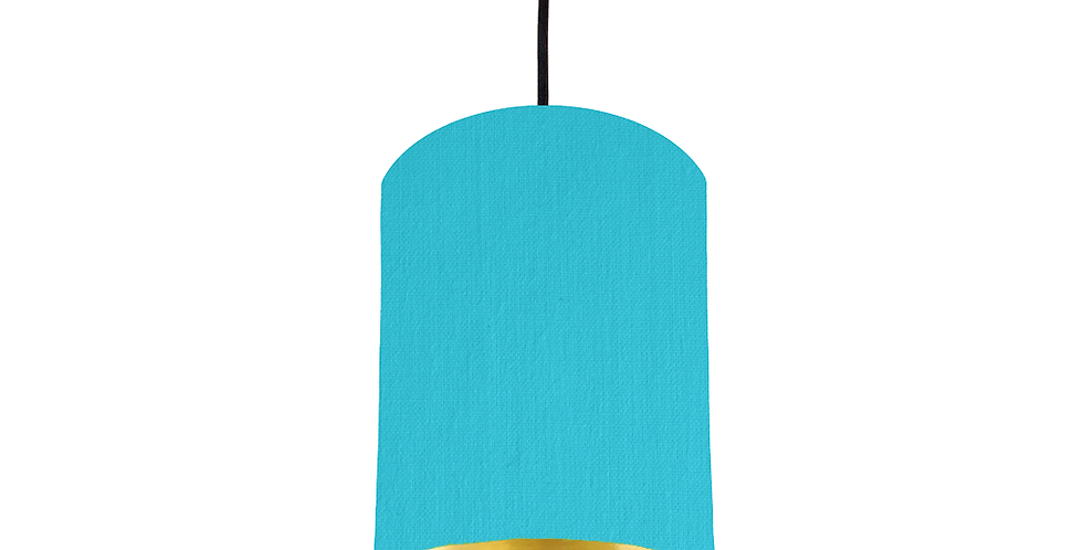 Turquoise &  Gold Mirrored Lampshade - 15cm Wide